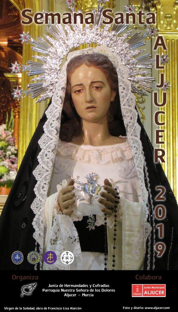 Cartel Semana Santa Aljucer 2019 Virgen de la Soledad